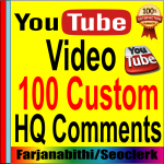 Get High Quality 100+ You/tube Custom Com ments Supper fast delivery
