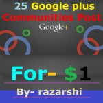 25 Google Plus Communities Post For You