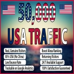 For Only 20 dollars you will get 50,000 USA Keyword Targeted Traffic