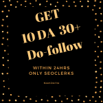 DA 30+ Do-follow DA Domain Authority provide 10