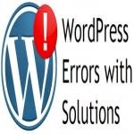 Wordpress error solution