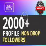 Add 2000+ High Quality Fast Profile Followers PERMANENT GUARANTEED