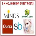 5 x HQ,  High-DA Guest Post Combo Pack 1
