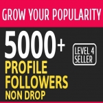 Add 5000+ High Quality Fast Profile Followers PERMANENT to Your Account