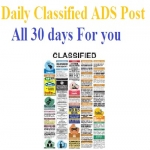 Post Daily Classified ADS for your Business 30 Days