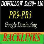 Build High PR9 - PR3 DA 50 +150 High-Quality Domain Authority SEO Backlinks