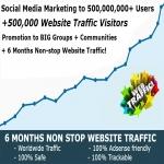 500,000,000 Social Media Marketing and 500,000 Website Traffic Explosion service
