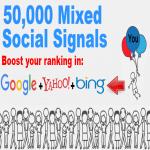 50,000 Mixed Social Signals Big Bang Mega Power Pack Illuminate Your Search Engine Ranking