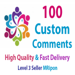 Get Instant 100 High Quality Custom Post Comments