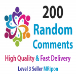 Add Instant 200 High Quality Random Post Comments