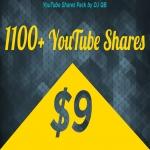 1109+ YouTube Shares