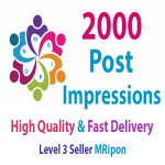 Get Instant 2000 High Quality Post Impressions