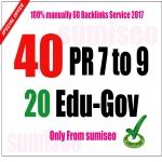 40 PR9 + 20. EDU-. GOV Backlinks From Authority Domains 100 to 30