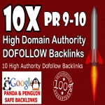 50 Dofollow Backinks from High Authority sites Improve and Rank Higher in the SERPS