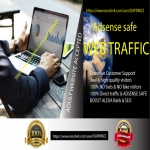 Click Me- Drive targeted 100 Adsense Safe Web traffic,  daily visitors for One Month