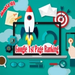 Seo google first page ranking 1st position your website best result 2019