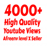Add Super Fast 4000+ High Quality Youtube views